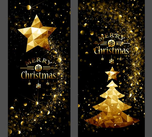 3d Cartoon Animal Wallpapers Golden Christmas Dream Vertical Banner Vector Free Download