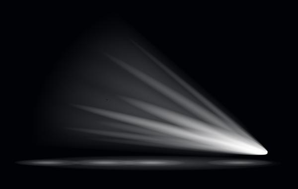 3d Geometric Shapes Wallpaper White Stage Light Effect Spotlight Vector Illustration 01 Free