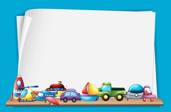 Vintage Car Wallpaper Border Toys With Paper Background Vectors 04 Vector Background
