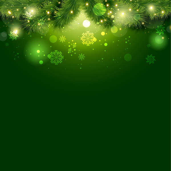 Green christmas background design vector 03 free download - christmas background image