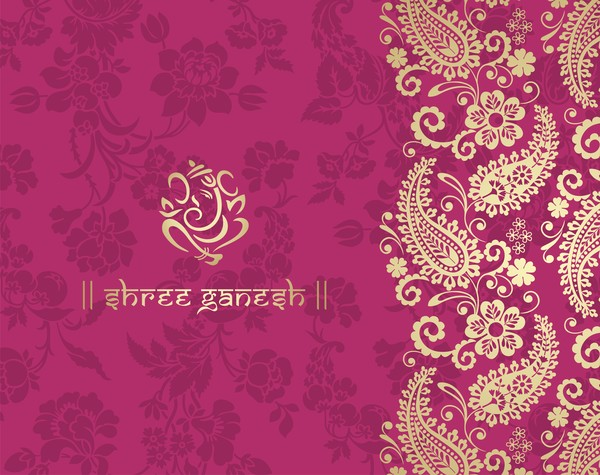 Anand Name 3d Wallpaper Indian Ethnic Pattern With Pink Backgrounds Vector 02