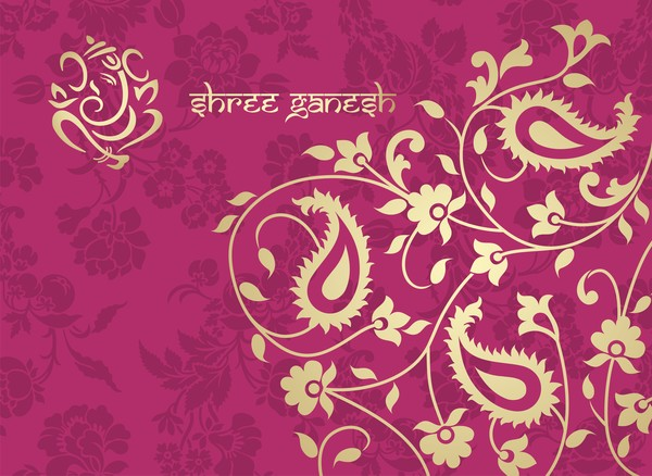 Anand Name 3d Wallpaper Indian Ethnic Pattern With Pink Backgrounds Vector 05