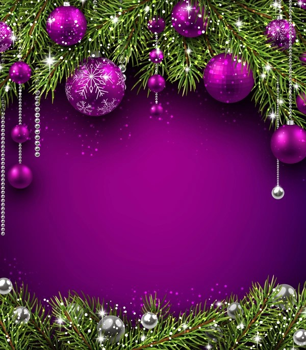 Vintage Car Design Wallpaper Purple Christmas Decor With Background Vector Free Download