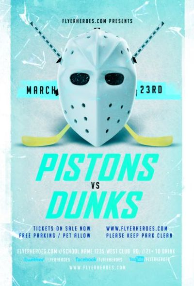 Hockey League Flyer Psd Template free download