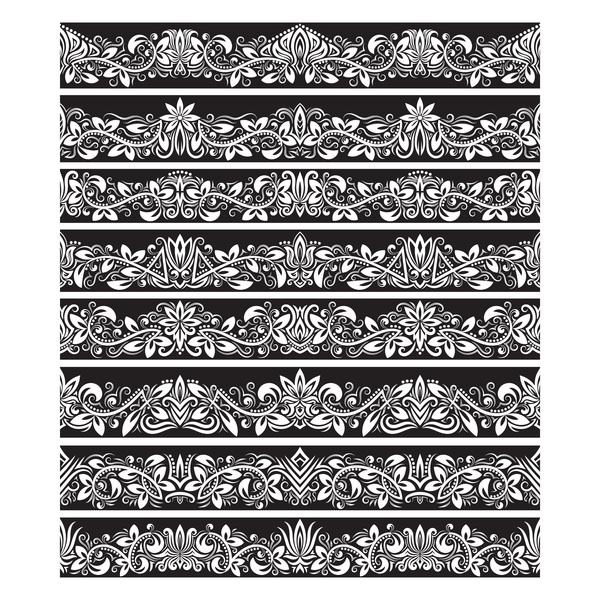 black and white damask border template - Apmayssconstruction
