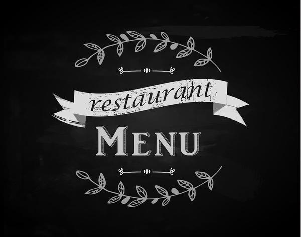 Restaurant menu with chalkboard background vector 01 free download