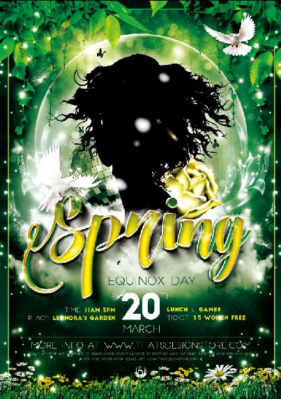 Spring Flyer PSD Template free download - spring flyer template