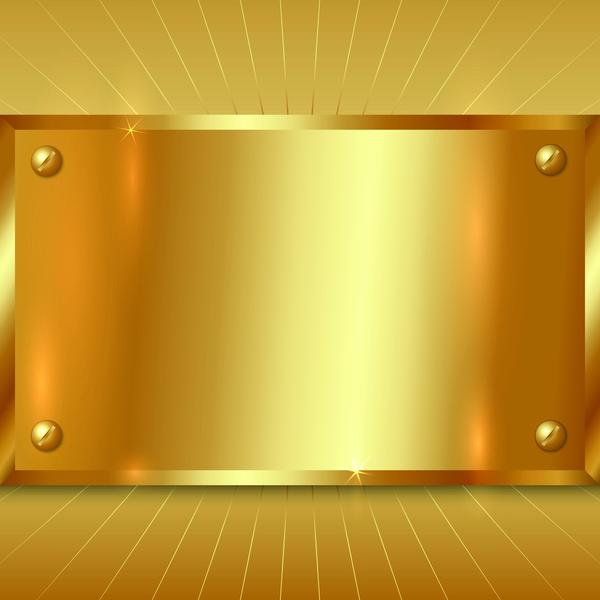 Vintage Car Wallpaper Border Gold Metal Board Background Vector Vector Background
