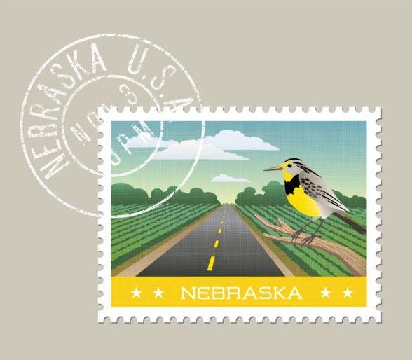 nebraska postage stamp template vector free download - stamp template
