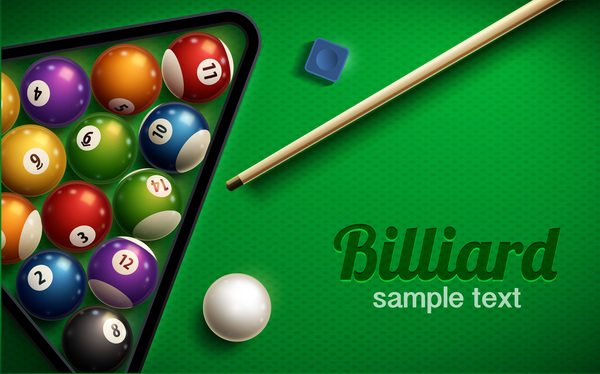 3d Wallpaper Pool Table Shiny Billiard Vector Background Design Free Download