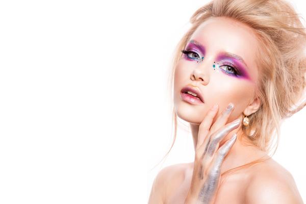Beautiful Cartoon Girl Wallpaper Young Female Model Eye Makeup Hd Picture 06 Free Download
