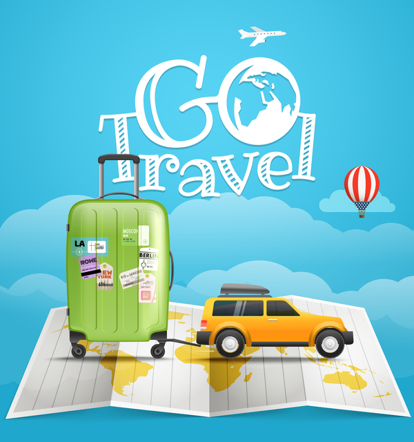 Cute Country Wallpaper World Vacation Travel Vector Material Vector Background