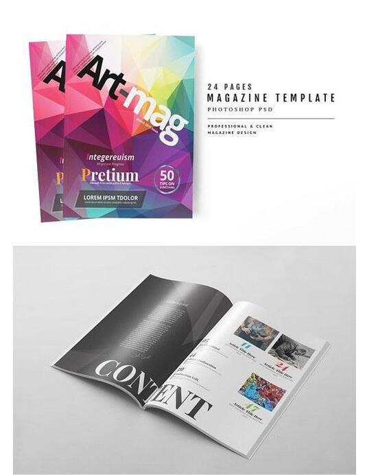 15 Page magazine Psd template free download