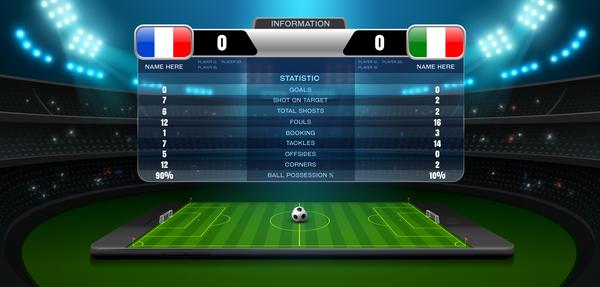 Soccer scoreboard template vectors 03 free download