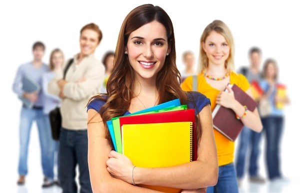 Smile college student Stock Photo free download - student