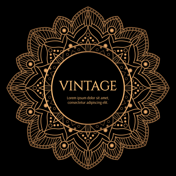 Vintage Car Wallpaper Border Mandala Luxury Frame Vectors Vector Frames Amp Borders