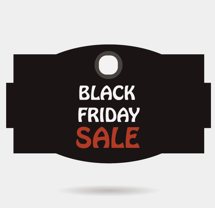 Black friday sale tags template vectors 04 - Vector Label free - sale tag template