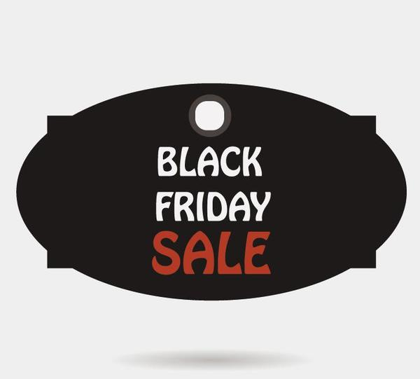 Black friday sale tags template vectors 06 - Vector Label free - sale tag template
