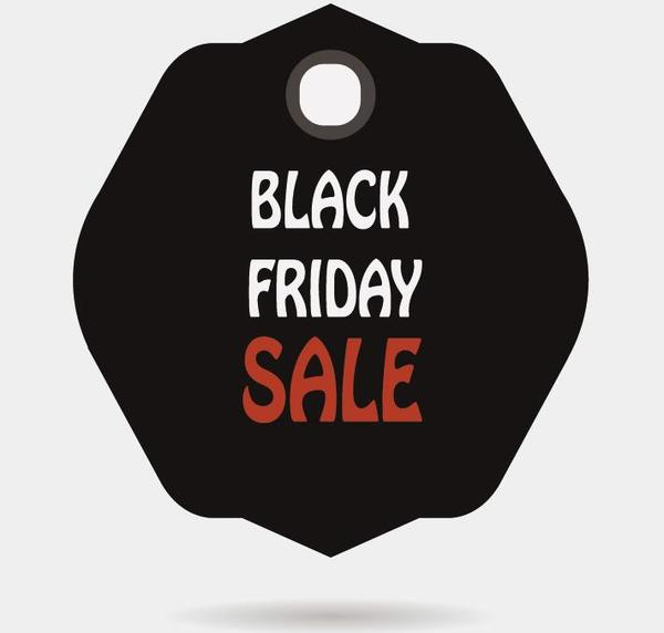 Black friday sale tags template vectors 08 - Vector Label free - sale tag template
