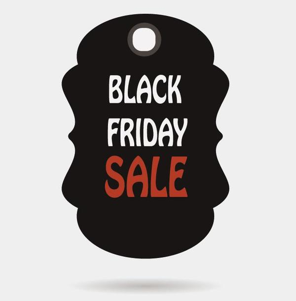 Black friday sale tags template vectors 09 - Vector Label free - sale tag template