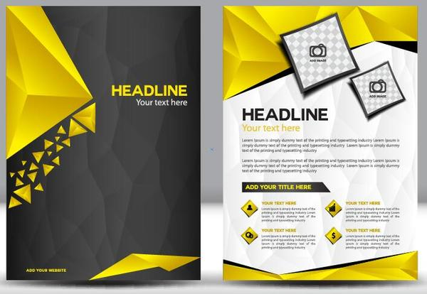 Black Flyer Template Download Abstract Green Black Annual Report - black flyer template