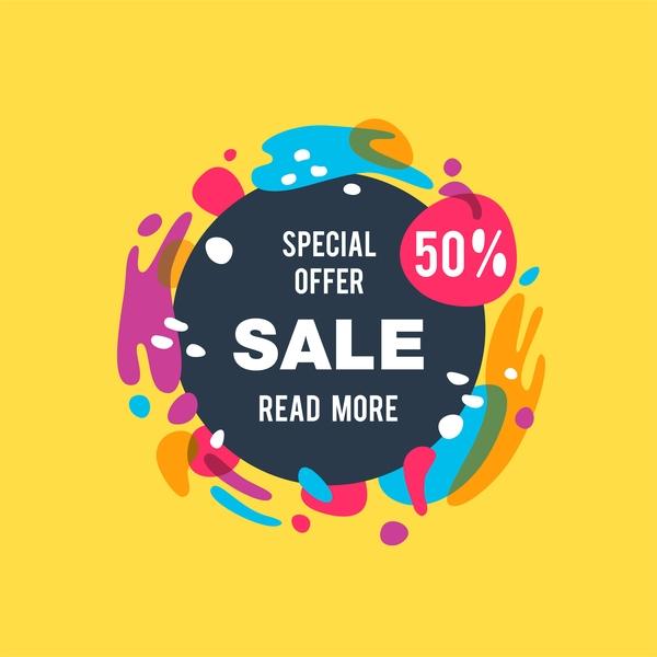 Special offer sale poster design vector free download - sale poster design