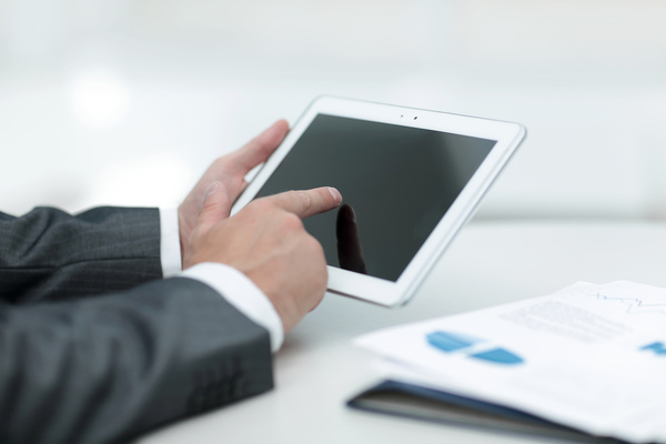Business people using Tablet PC Stock Photo 06 free download - business tablet