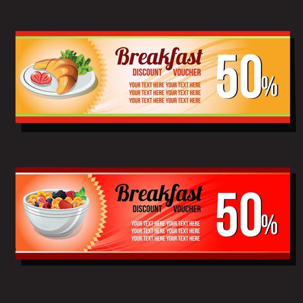 breakfast discount voucher template vector free download - food voucher template
