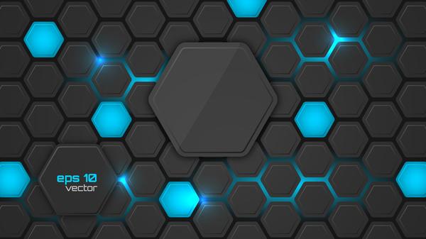 Black hexagon carbon fiber background vectors 03 free download