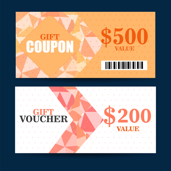 Gift coupon template vector 02 free download