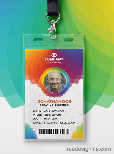 Corporate Branding Identity Card PSD Template free download