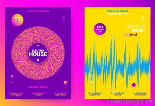 Music festival brochure template vector free download