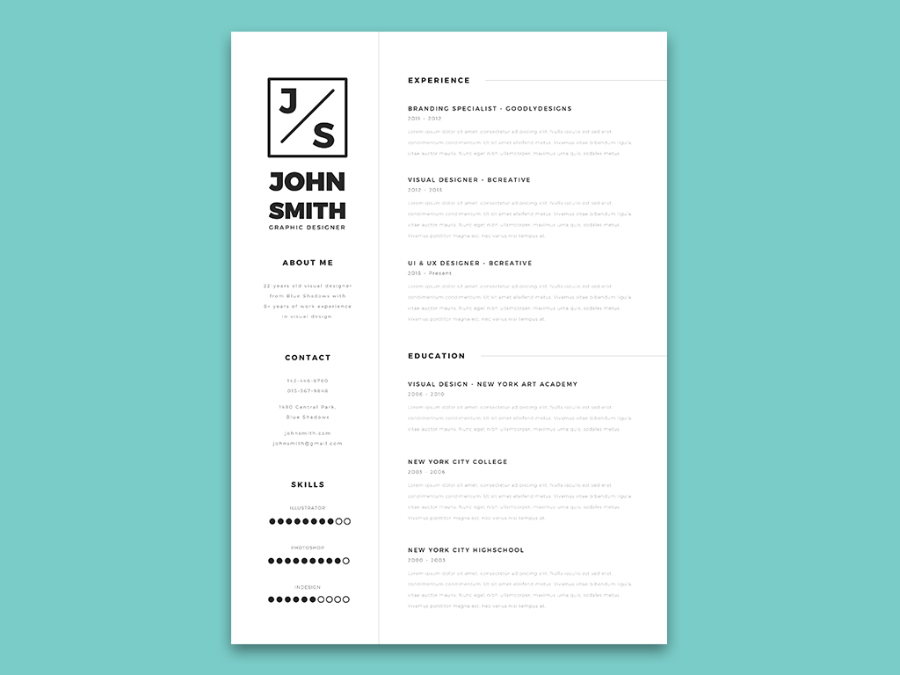 Minimalistic Resume  Cover Letter Template \u2014 Free Design Resources