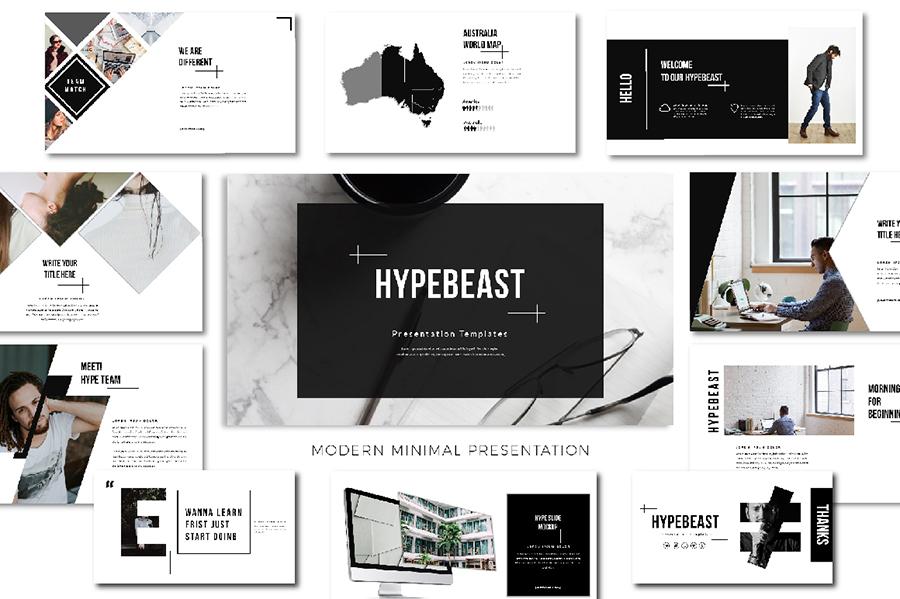Hypebeast Free Presentation Template \u2014 Free Design Resources - presentation template