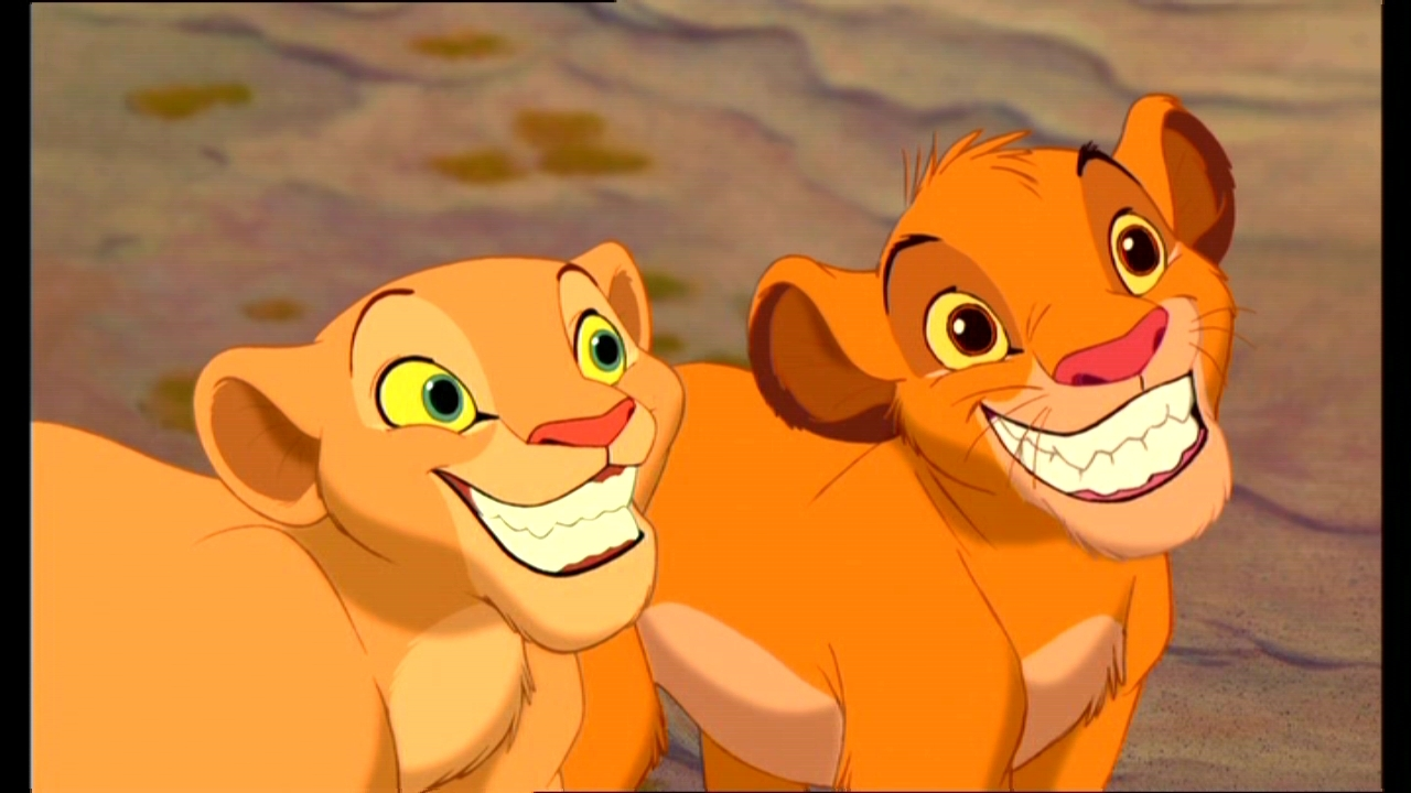 characters in the lion king movie nala and simba elephant