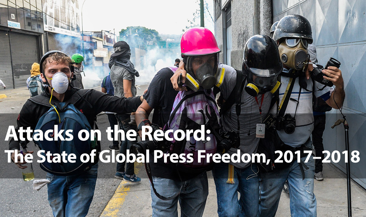 Hat Stand Freedom Attacks On The Record The State Of Global Press Freedom 2017 2018