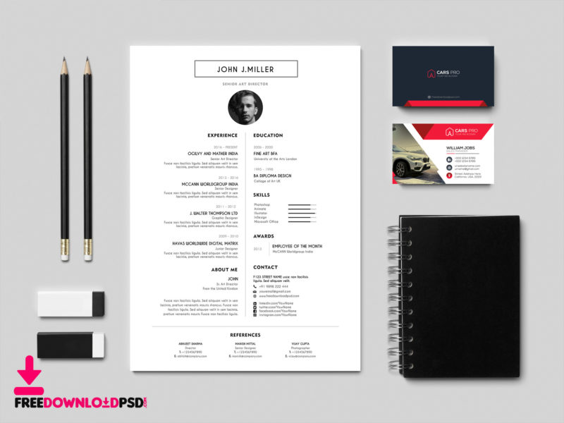 Best Free Resume/CV Template FreedownloadPSD - Resume Design