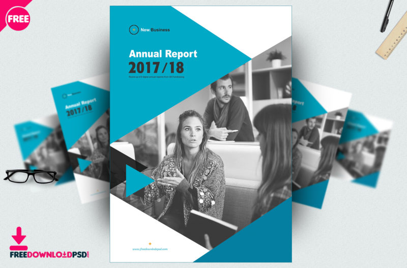 Free Brochure Annual Report template PSD FreedownloadPSD - free indesign template