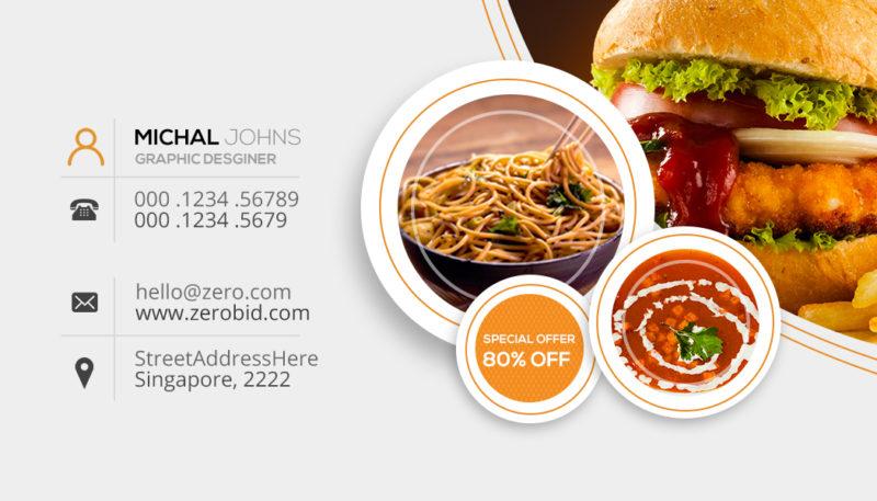 Free Restaurant Business Card PSD FreedownloadPSD
