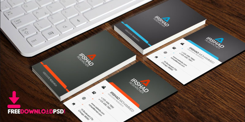 Free Visiting Cards Template PSD FreedownloadPSD - business card template design