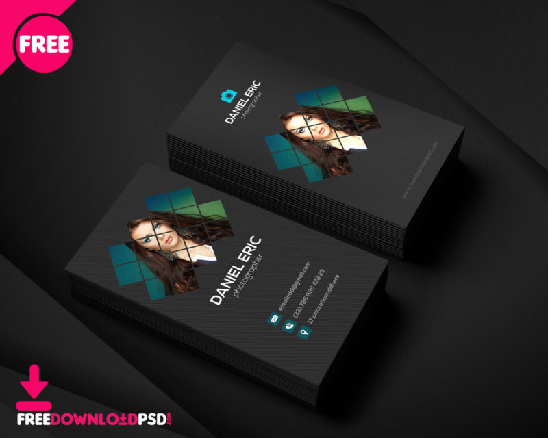 Best Photographer Business Card FreedownloadPSD