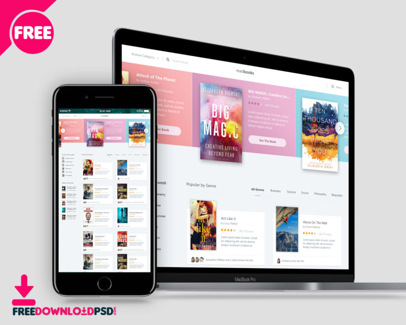 Movie review website template free psd FreedownloadPSD - app templates free