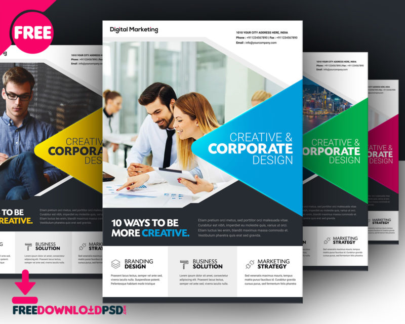 DownloadFree Business Flyer Template FreedownloadPSD - free design flyer templates