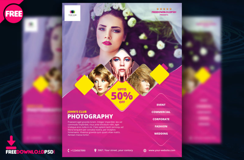 Free Photography Flyer Template FreedownloadPSD - Photography Flyer
