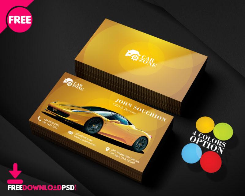 Automotive Business Card Templates PSD FreedownloadPSD