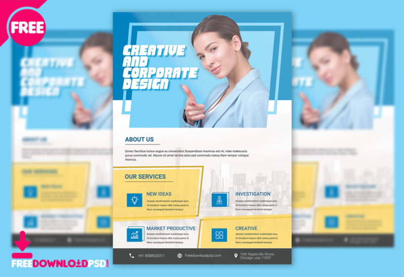 Corporate Business Flyer PSD Template FreedownloadPSD