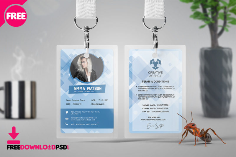 Free Office Id Card PSD Template FreedownloadPSD