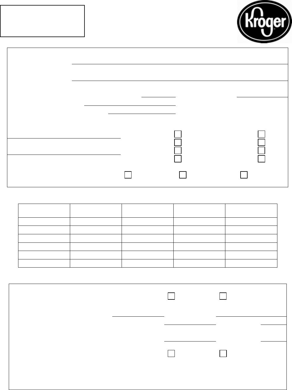 Kroger Job Application Form Online | Reference Letter Template ...