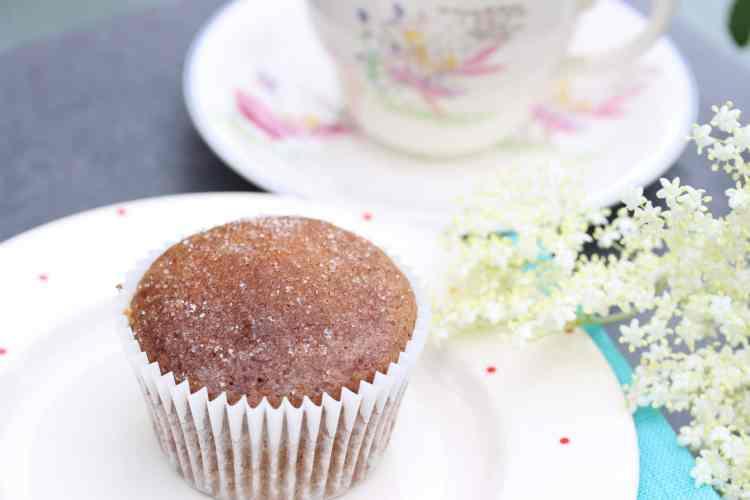Wholegrain Lemon Cupcakes With Elderflower Syrup (Gluten & Dairy Free)