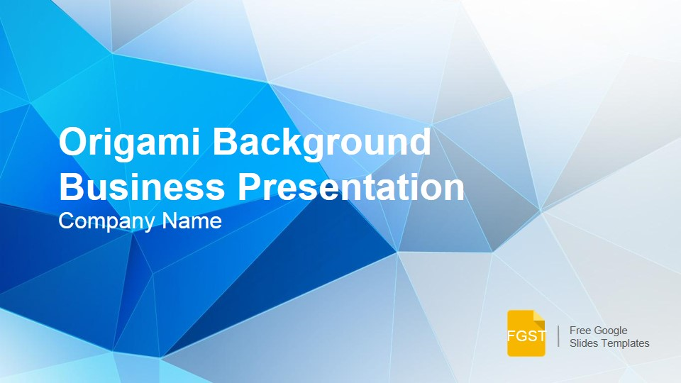 Origami Background Presentation Template - Free Google Slides Templates - presentation template